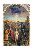 Baptism of Christ by John Plakater af Giovanni Bellini