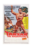 Tarzan the Magnificent, from Back Left: Betta St. John, Gordon Scott, 1960 Poster
