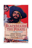 Blackbeard the Pirate, Top: Robert Newton; Bottom Left: William Bendix, 1952 Print
