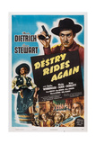 Destry Rides Again, 1939 Poster