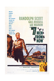 Seven Men from Now, (Aka 7 Men from Now), Left: Randolph Scott, 1956 Prints