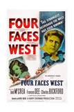 Four Faces West, from Left: Frances Dee, Charles Bickford, Joel Mccrea, Joseph Calleia, 1948 ポスター