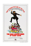 The Mad Adventures of Rabbi Jacob, (Aka Les Aventures De Rabbi Jacob), Center: Louis De Funes, 1973 Pôsters