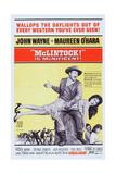 Mclintock!, John Wayne, Maureen O'Hara, Patrick Wayne, Stefanie Powers, 1963 ポスター