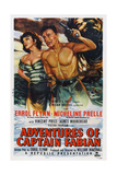 Adventures of Captain Fabian, from Left: Micheline Presle, Errol Flynn, 1951 Kunst