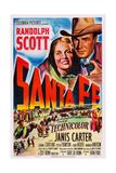 Santa Fe, Top from Left: Janis Carter, Randolph Scott, 1951 Posters