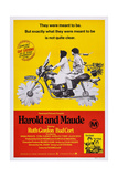 Harold and Maude, Ruth Gordon, Bud Cort, 1971 Poster