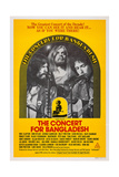 The Concert for Bangladesh, from Left: George Harrison, Leon Russell, Bob Dylan, 1972 Affiche