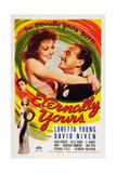 Eternally Yours, from Bottom Left: Virginia Field, Zasu Pitts, Loretta Young, David Niven, 1939 Kunstdrucke