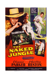 The Naked Jungle, Left and Right: Charlton Heston; Center: Eleanor Parker, 1954 Plakater