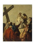 Way of the Cross, Station X - Christ Stripped of His Garments Plakat af Giandomenico Tiepolo