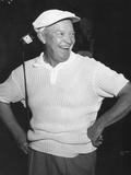 President Dwight Eisenhower Smiling While Golfing, Ca. 1954 Foto