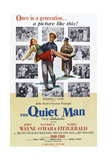 The Quiet Man, Maureen O'Hara, John Wayne, Barry Fitzgerald, 1952 Print