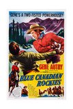 Blue Canadian Rockies, Gene Autry (Top Right), 1952 ポスター