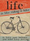 Riding a Bike Carteles metálicos