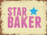 Star Baker Blechschild