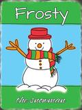 Frosty, der Schneemann Blechschild