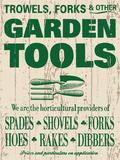 GardenTools Blechschild