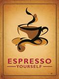 Espresso Yourself Targa di latta