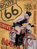 Route 66 - The Mother Road Plaque en métal