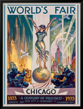 Chicago World's Fair, 1933 Framed Giclee Print by Glen C. Sheffer