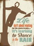 Dance in the Rain Plaque en métal