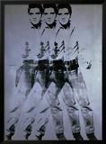 Elvis Triplo, 1963 Impressão giclée emoldurada por Andy Warhol