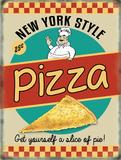 New York Pizza Plaque en métal