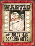 Wanted - Jolly Man Bearing Gifts Blechschild