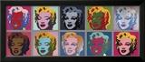 Dez Marilyns, cerca de 1967 Impressão giclée emoldurada por Andy Warhol