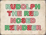 Rudolph the Red Nosed Reindeer - Landscape Blechschild