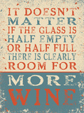 More Wine Blechschild