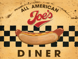 Joe's Diner Tin Sign