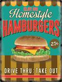 Homemade Hamburgers Tin Sign