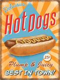 Hotdogs Plaque en métal
