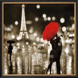 A Paris Kiss Framed Giclee Print by Kate Carrigan