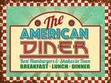 American Diner Tin Sign