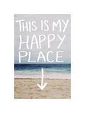 This Is My Happy Place (Beach) Stampa giclée di Leah Flores