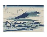 Umezawa Manor in Sagami Province Arte por Katsushika Hokusai