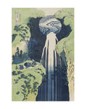 The Amida Falls in the Far Reaches of the Kisokaidô Road Schilderij van Katsushika Hokusai