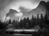 Black and White Bridalveil Falls Photographic Print by Sarah Fields