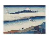 The Jewel River In Musashi Province Posters by Katsushika Hokusai
