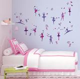 Danza classica con glitter (sticker murale) Decalcomania da muro