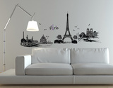 Paris Illustration Autocollant mural