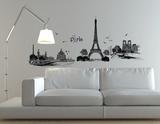 Illustrazione di Parigi (sticker murale) Decalcomania da muro