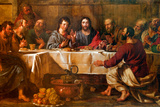 BRUSSELS - JUNE 21: Paint of Last Supper of Christ in St. Nicho Valokuvavedos tekijänä Renáta Sedmáková