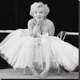 Marilyn Monroe (Ballerina) Bedruckte aufgespannte Leinwand