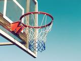 Basketball Hoop Closeup Fotografisk trykk av  designelements
