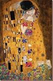 Le Baiser, vers 1907, détail Toile tendue sur châssis par Gustav Klimt