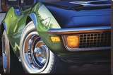 Corvette 1970 in St. Louis Sträckt kanvastryck av Graham Reynold